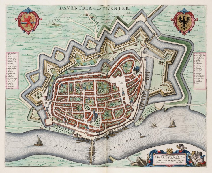 Daventria vernacule Deventer - Map of Deventer (J.Blaeu)