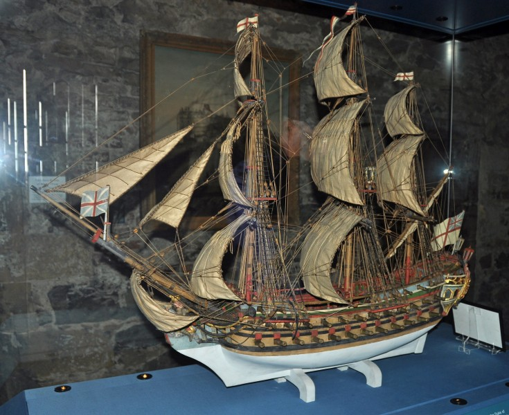 Edinburgh Castle, Prisons of War, model ship