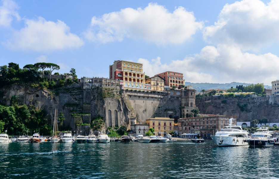Ferry and yacht port of Sorrento - Campania - Italy - July 12th 2013 - 03