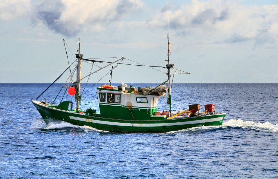 Fishing boat in the Canary Islands