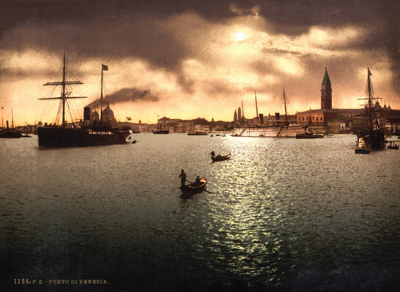 Flickr - …trialsanderrors - Port of Venice, Italy, ca. 1889
