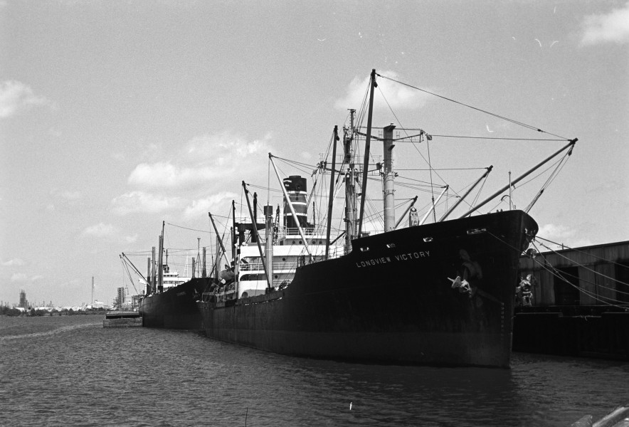 Freighter at Lake Charles Louisiana 1972
