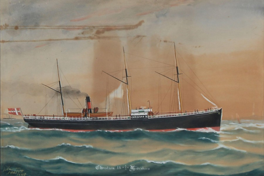 Geo Johansen - The Danish Steamship Christian IX
