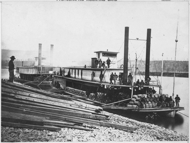 Government steamers on the Tennessee River. (