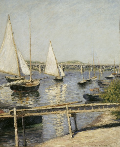 Gustave Caillebotte - Sailing Boats at Argenteuil - Google Art Project