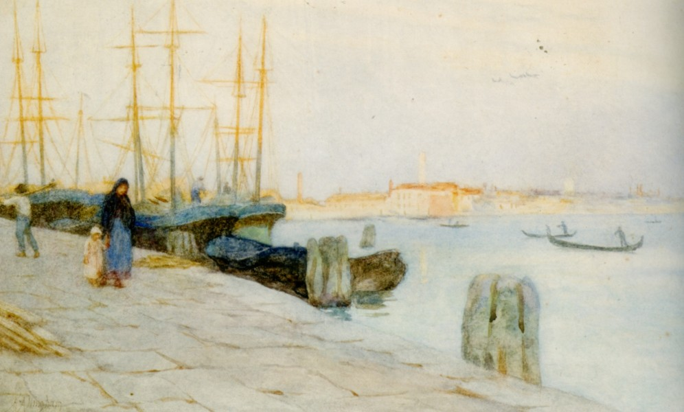 Helen Allingham - Morning at the Quay Venice