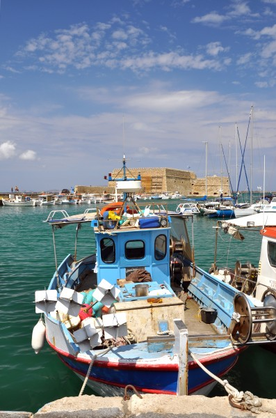 Heraklion old harbour in Crete, Greece 001