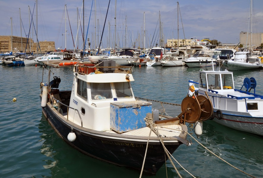 Heraklion old harbour in Crete, Greece 003