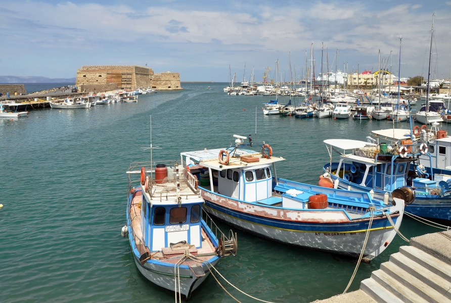 Heraklion old harbour in Crete, Greece 004