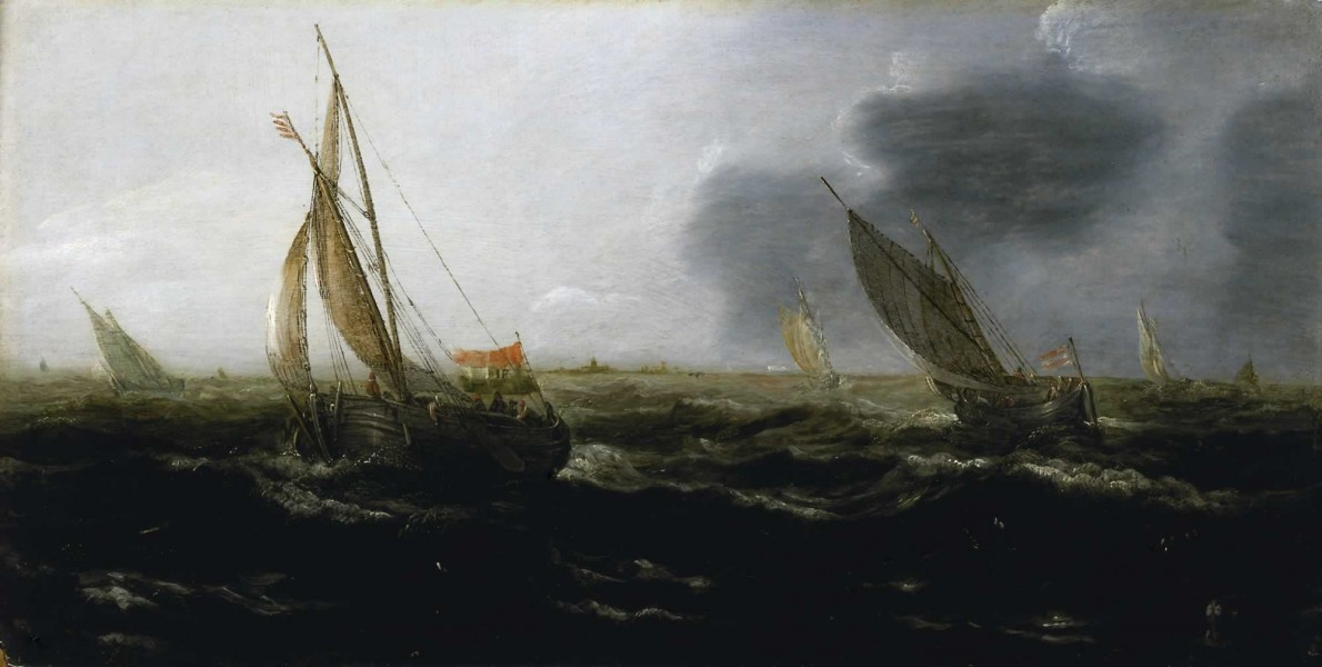 Jan Porcellis - Dutch Vessels in a Strong Breeze