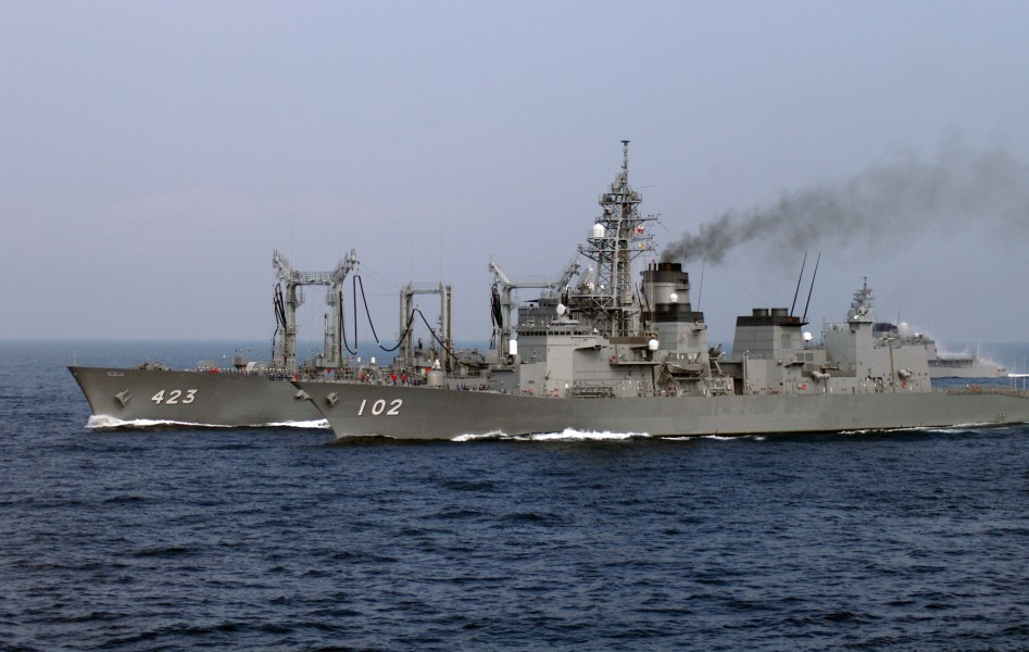 JS Harusame and Tokiwa at SDF Fleet Review 2006 a