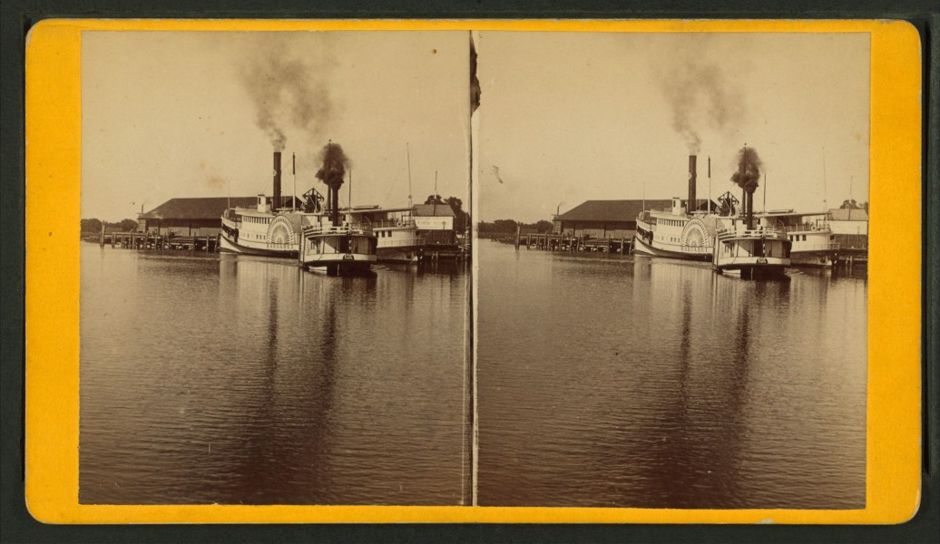 Landing of Steamers, Tampa City, Fla, from Robert N. Dennis collection of stereoscopic views