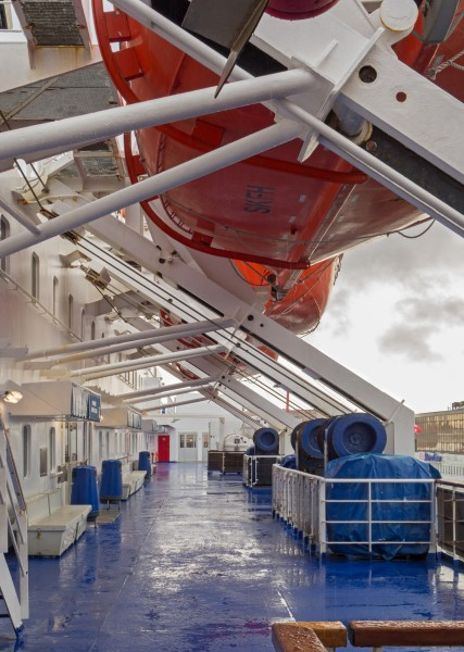 Lifeboat deck on Stena Danica 1