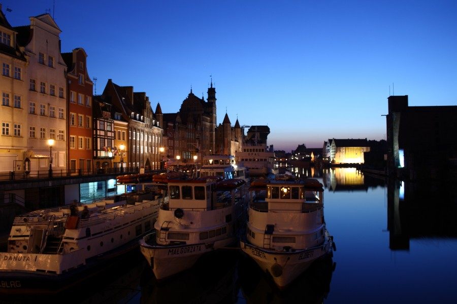 Light before dawn in Gdańsk during Wikimania 2010
