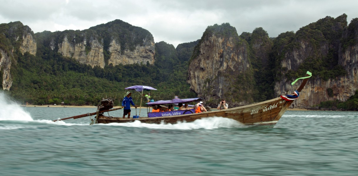 Long-tail boat in Railay