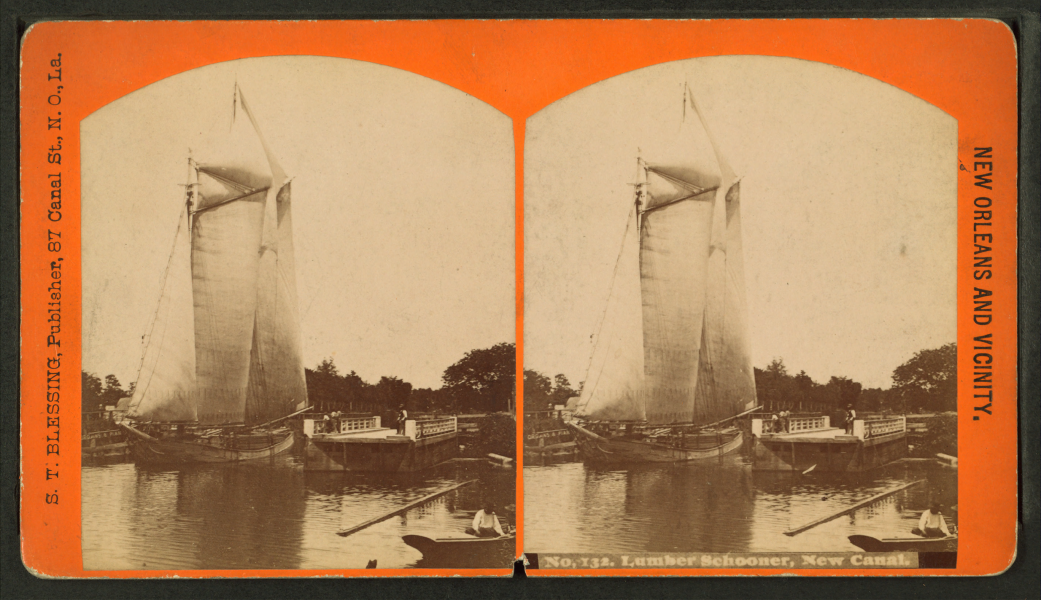 Lumber schooner, new canal, by S. T. Blessing