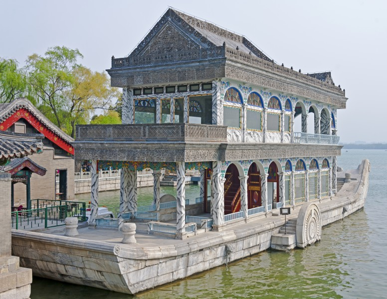 Marble Boat from stern, Summer Palace, Beijing