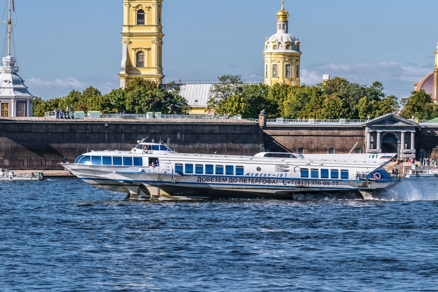 Meteor-197 on Neva River