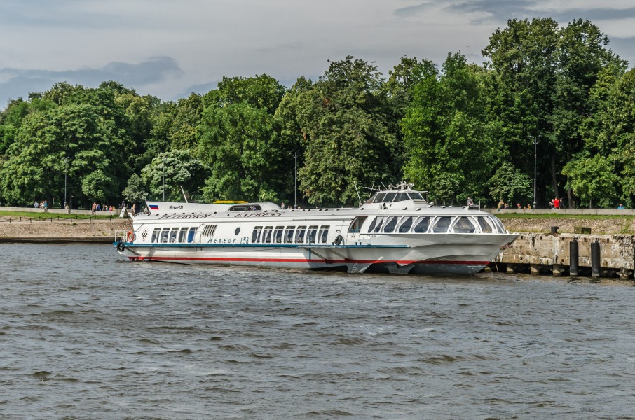 Meteor boat in Kronstadt harbour