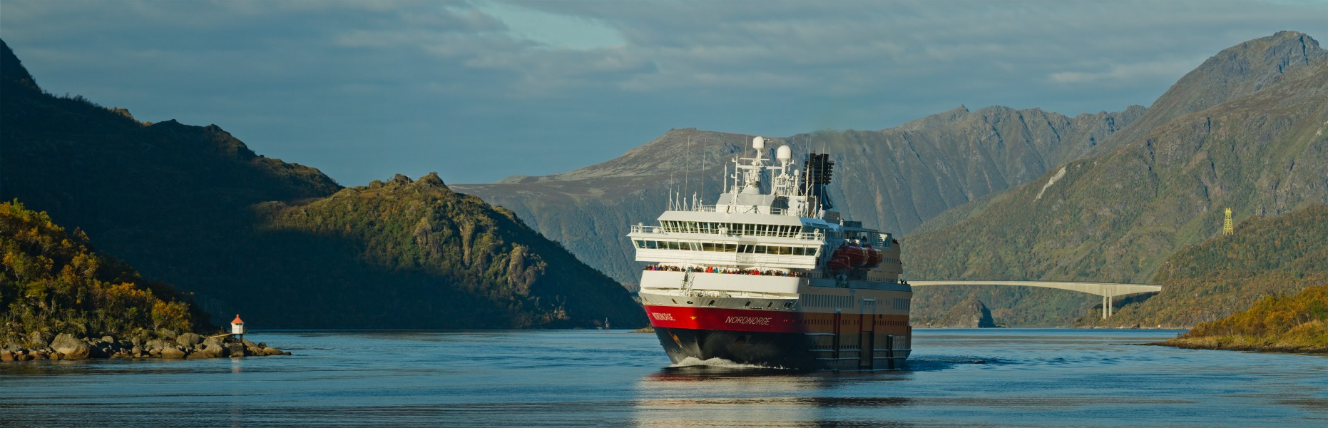 MS Nordnorge, Hurtigruten in Raftsundet, Nordland, Norway, 2015 September