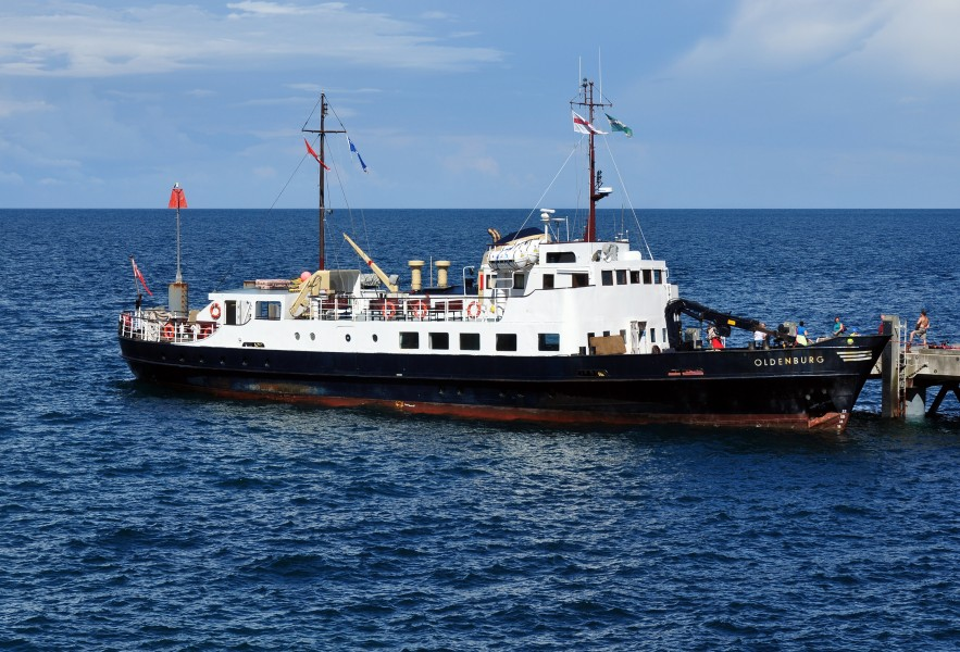 MS Oldenbury at Lundy