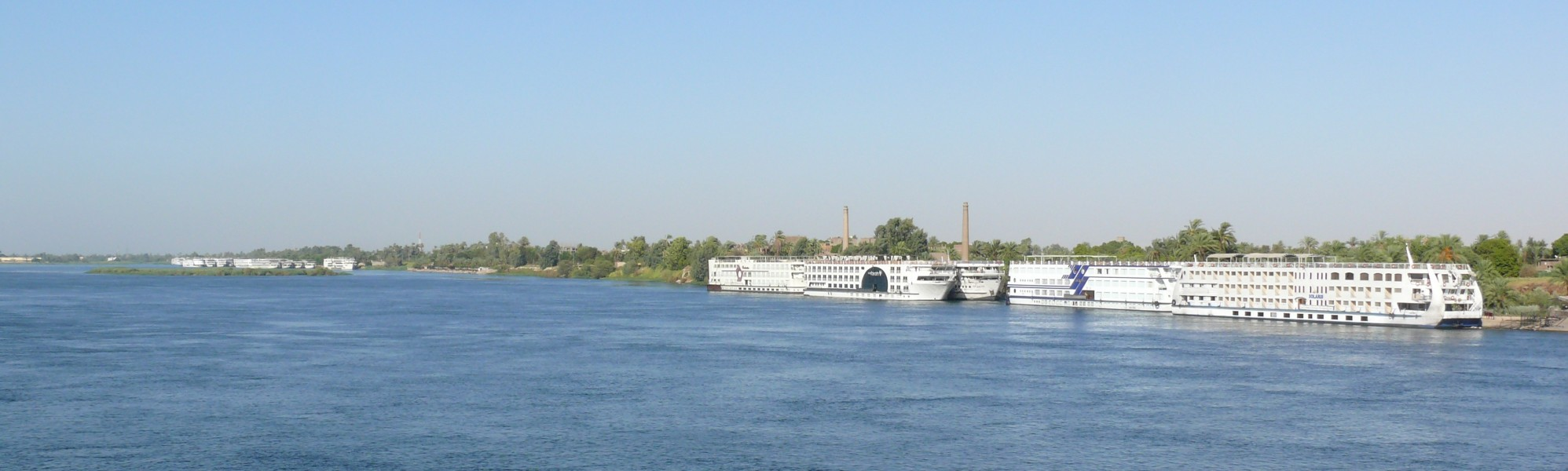 Nile cruise ships in Luxor 01
