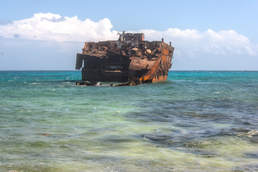 Old Ship in Rocky Cay (8325691768)