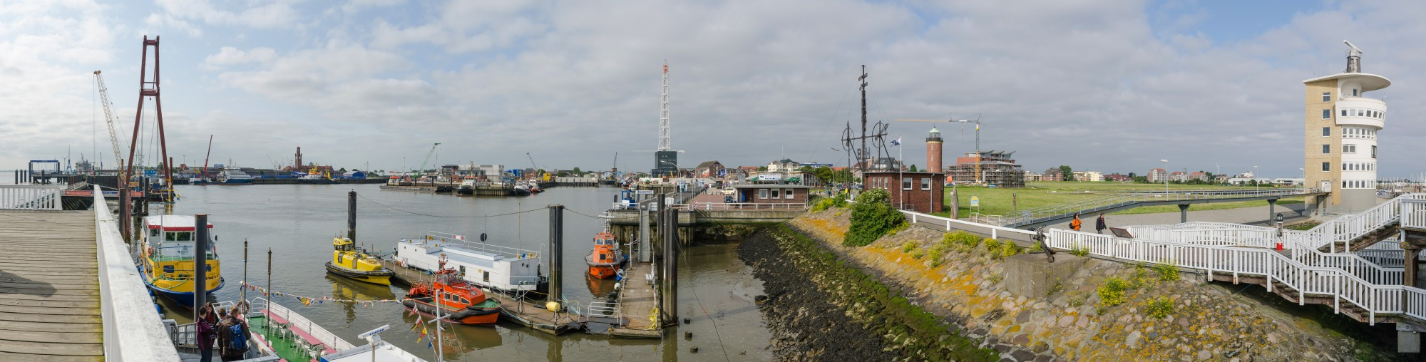 Panorama Hafen Cuxhaven Alte Liebe 2013