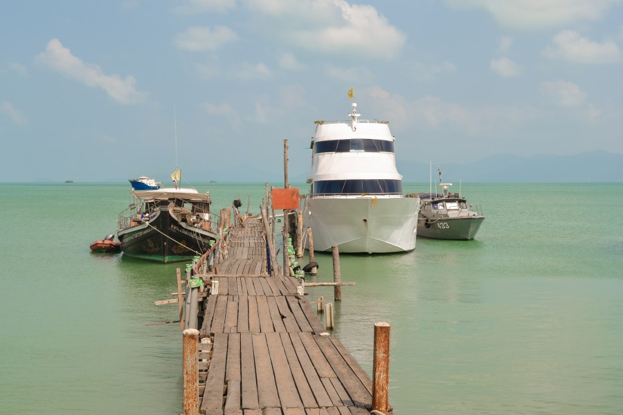 Pier in Bophut village in Ko Samui