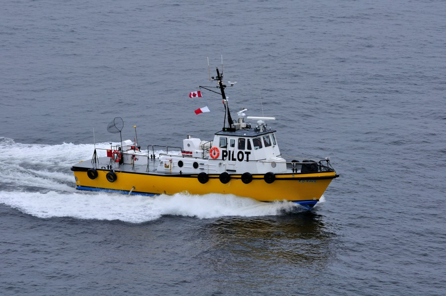 Pilot boat R D Riley on the Hecate Strait