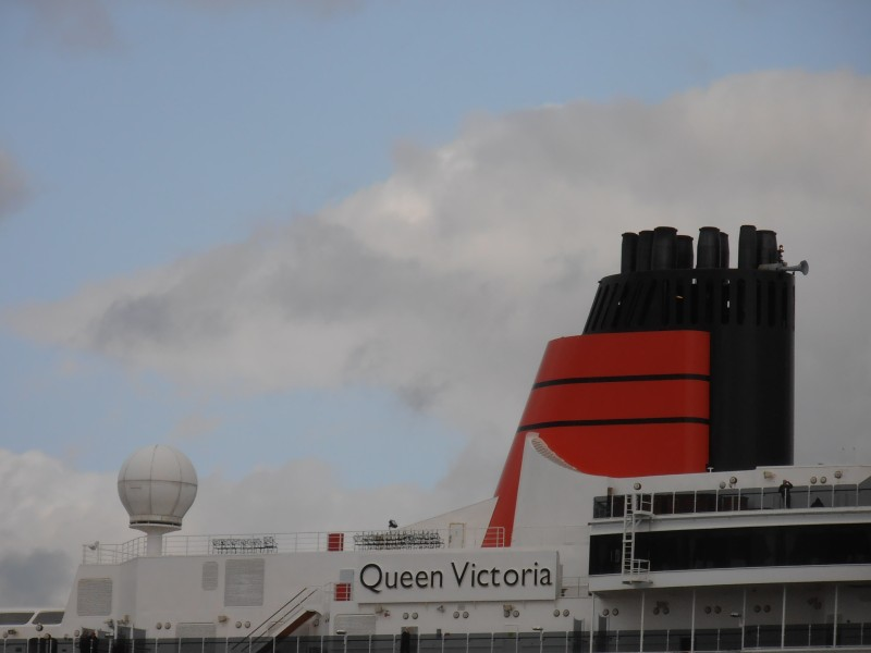 Queen Victoria' Funnel 18 May 2012 Port of Tallinn