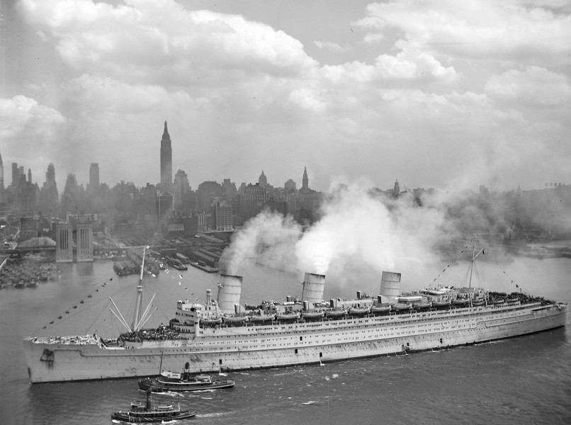 RMS Queen Mary on the 20-th of June 1945 in New York