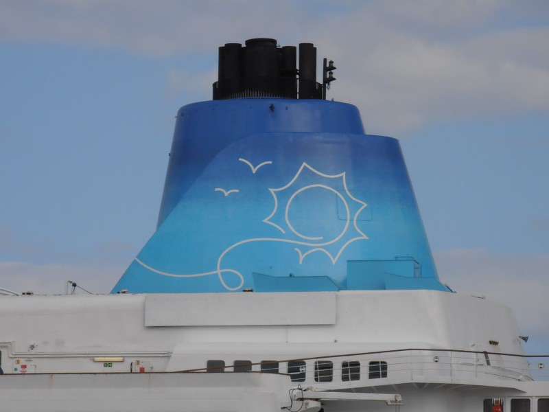 Saga Sapphire' Funnel 15 May 2012 Port of Tallinn
