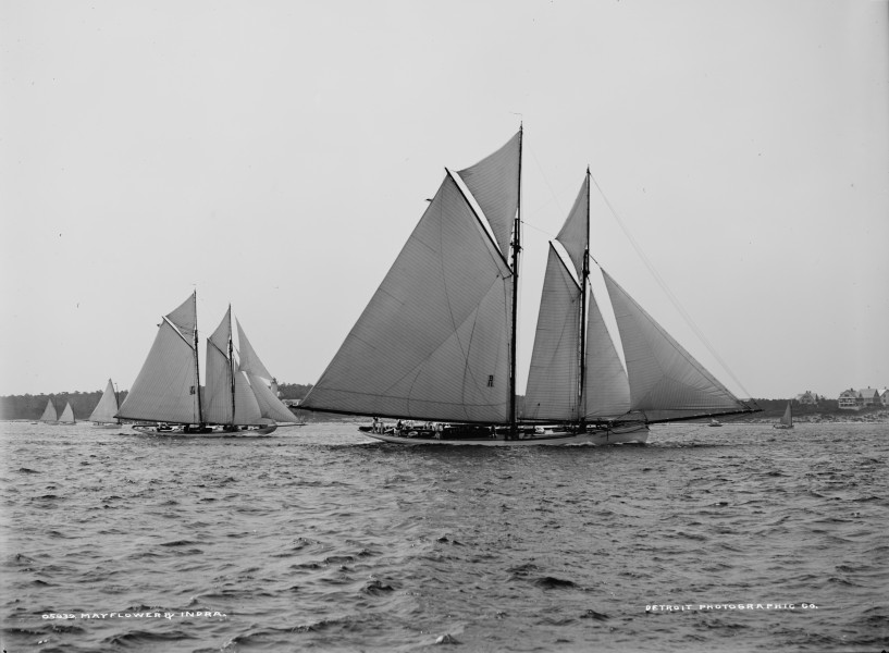 Schooners Indra & Mayflower