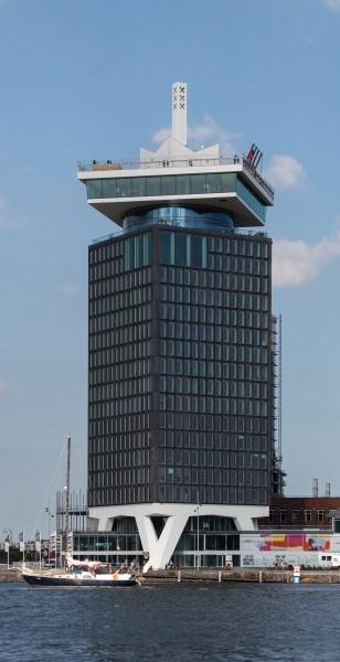 Shell Tower Amsterdam-Noord from tour boat 2016-09-12
