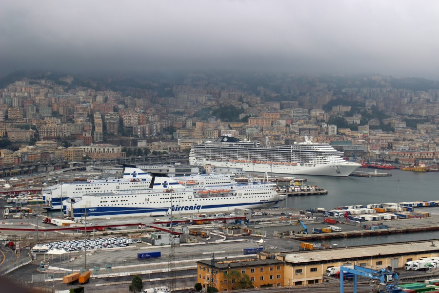 Ships in Genoa Harbour 01