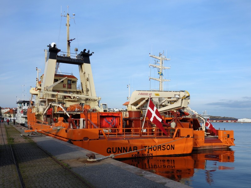 Stern view of ship Gunnar Thorson