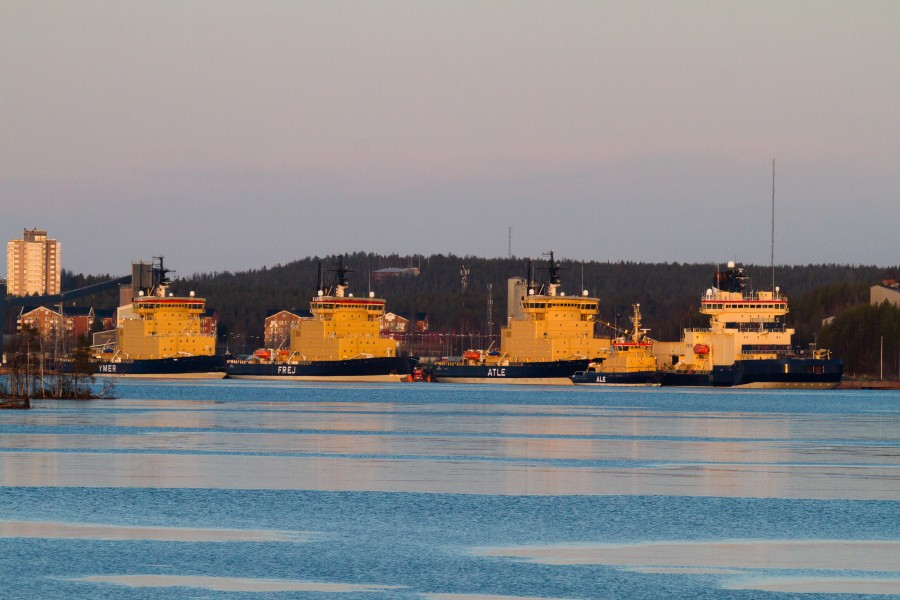 Swedish icebreakers in Luleå harbour