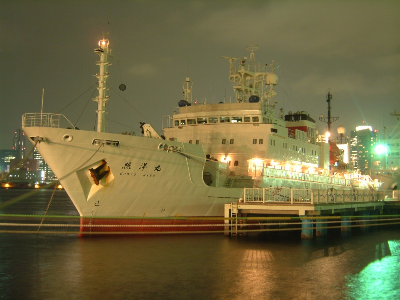 Syouyou-maru, an investigation ship of Ministry of Agriculture, Forestry and Fisheries ,at the Harumi Pier of Tokyo Port