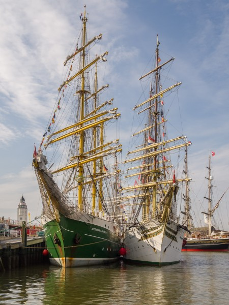 Tall Ship races Harlingen 2014 - Alexander von Humboldt II and Sorlandet in the back Stad Amsterdam