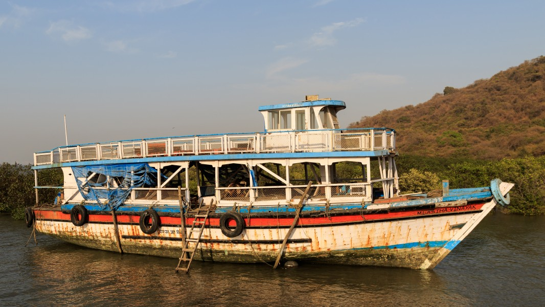Thane Creek and Elephanta Island 03-2016 - img30 abandoned ferry