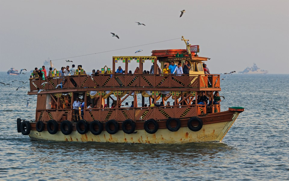 Thane Creek and Elephanta Island 03-2016 - img36 ferry near Gateway of India