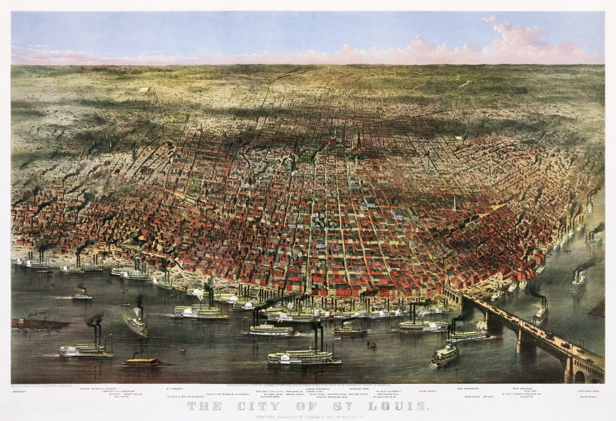 The City of St. Louis by Currier & Ives, 1874