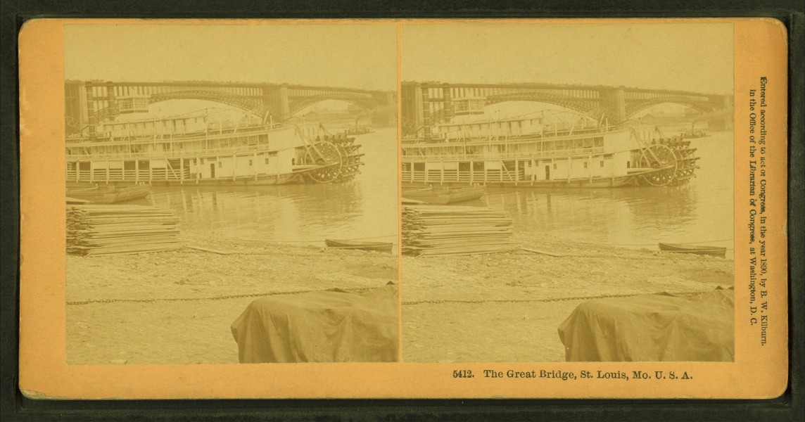 The Great Bridge, St. Louis, Missouri, by Kilburn, B. W. (Benjamin West), 1827-1909