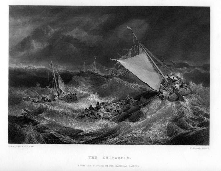 The Shipwreck engraving by William Miller after Turner
