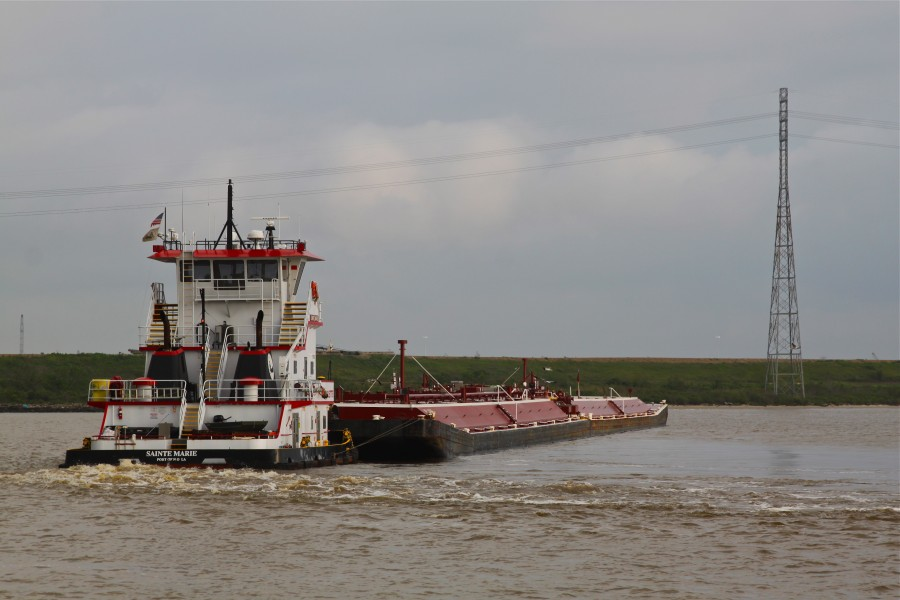 Tugboat Sainte Marie in the Houston Ship Channel