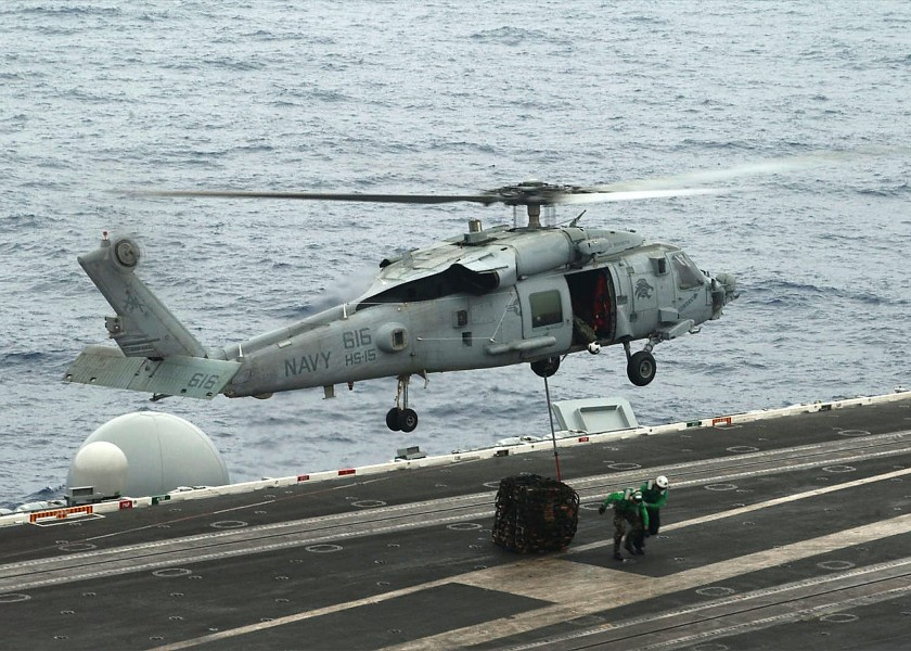 US Navy 020702-N-0967W-001 SH-60F aboard USS George Washington (CVN 73)