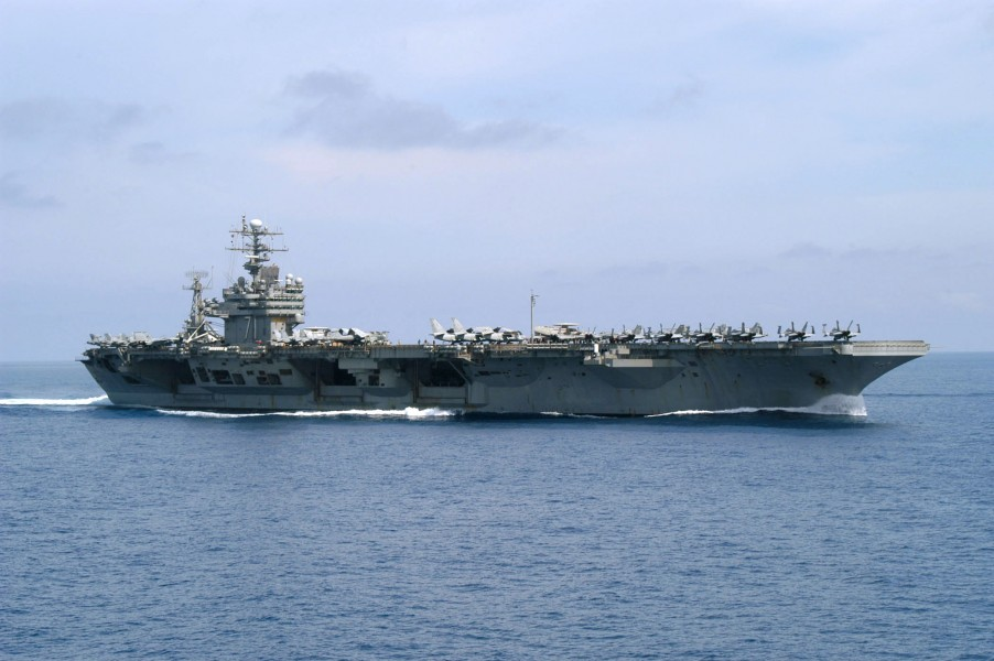 US Navy 030412-N-0275F-504 USS Theodore Roosevelt (CVN 71) underway conducting combat missions in support of Operation Iraqi Freedom