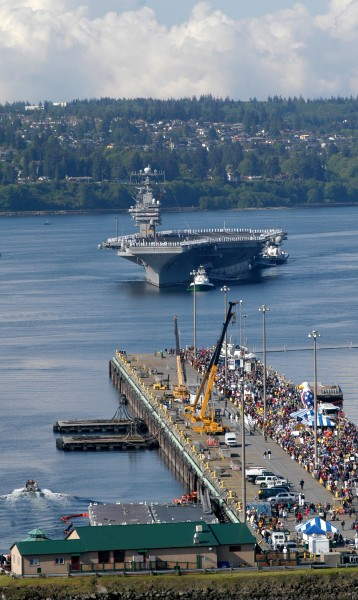 US Navy 030506-N-6436W-048 The aircraft carrier USS Abraham Lincoln (CVN 72) returns home from nearly a ten-month deployment in support of Operations Enduring Freedom and Iraqi Freedom