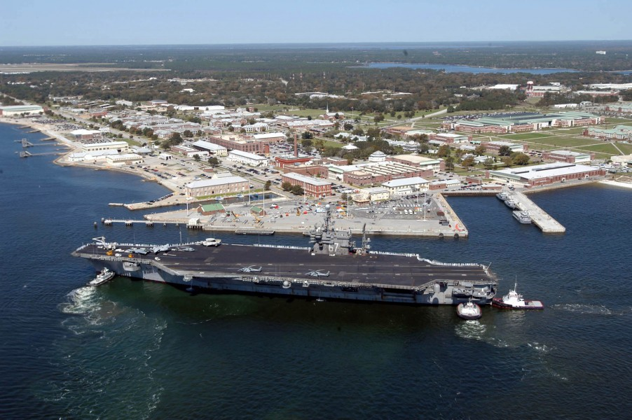 US Navy 040317-N-0000N-058 USS John F. Kennedy (CV 67) arrives at Naval Air Station Pensacola, Fla., for a four-day port visit